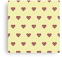The pattern in the hearts Canvas Print