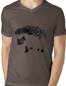 hedgehog Mens V-Neck T-Shirt