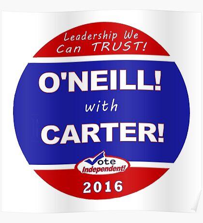 O'Neill - Carter for President Poster