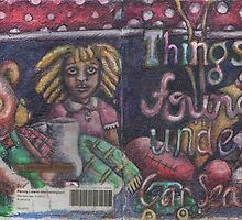 Things Found Under Car Seats -Front Cover (The Sketchbook Project 2012) by Penny Hetherington