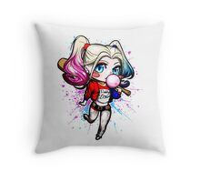 Crazy Bat Girl Throw Pillow