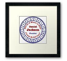 Daniel Jackson: A Man For the Times Framed Print