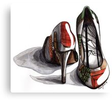 On the Wall Shoes Canvas Print