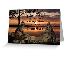 (◡‿◡✿) (◕‿◕✿) ZINGERS CHALLENGE BANNER(◡‿◡✿) (◕‿◕✿) Greeting Card