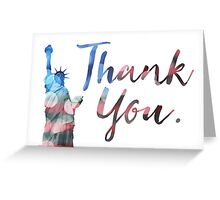 statue of liberty thank you veterans Greeting Card
