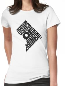 District of Columbia Black Womens Fitted T-Shirt