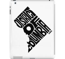 District of Columbia Black iPad Case/Skin