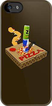Retro Gaming Session -Pizza joystick- by R-evolution GFX