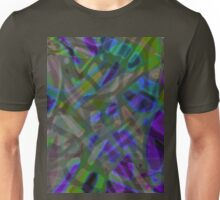 Colorful Abstract Stained Glass Unisex T-Shirt