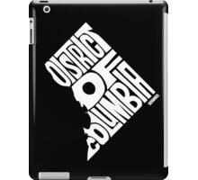District of Columbia White iPad Case/Skin