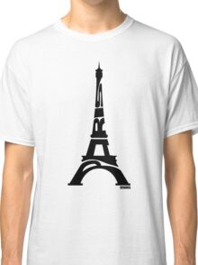 Paris Eiffel Tower Black Classic T-Shirt