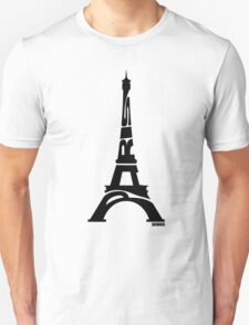 Paris Eiffel Tower Black T-Shirt