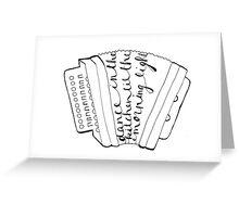 Louisiana Saturday Night Accordion Greeting Card