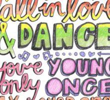 """Growing Up"" by Macklemore & Ryan Lewis Lyric Drawing  Sticker"