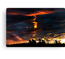 Sunset from the Veranda Canvas Print