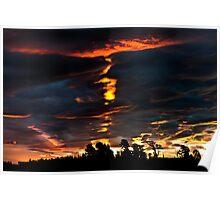 Sunset from the Veranda Poster