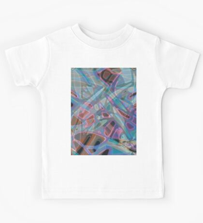 Colorful Abstract Stained Glass Kids Tee