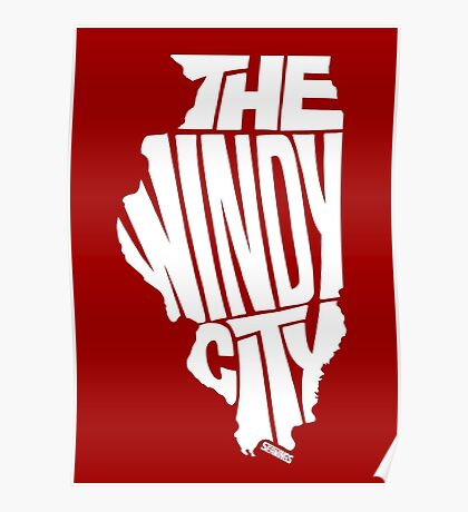 Chicago: The Windy City White Poster