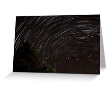 Spectacular Startrails Greeting Card