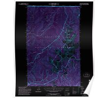 USGS Topo Map Washington State WA Gypsy Peak 241452 1992 24000 Inverted Poster