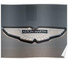 Aston Martin V12 Vantage Badge Poster