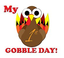 My first gobble day Photographic Print