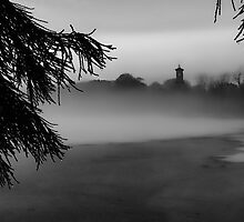 The Clocktower smothered in Fog by Rosie Nixon