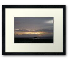 November Sky Framed Print