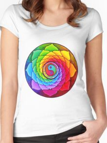 Healing Lotus Women's Fitted Scoop T-Shirt