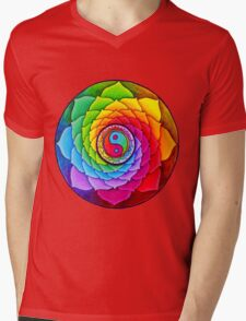 Healing Lotus Mens V-Neck T-Shirt