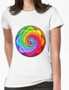 Healing Lotus Womens Fitted T-Shirt