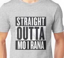 Straight Outta Mo i Rana Unisex T-Shirt