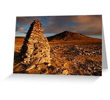 Ingleborough from Harry Hallam's Moss, Chapel-le-Dale, Ribblesdale, Yorkshire Dales Greeting Card