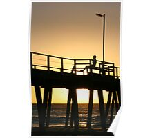 Lonely sunset Poster