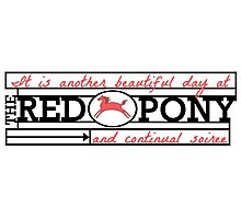 The Red Pony Photographic Print