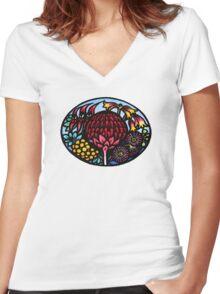 Australian WildFlowers Women's Fitted V-Neck T-Shirt
