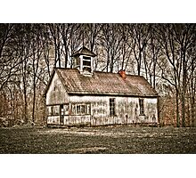 Old School House Barn in Avon Photographic Print