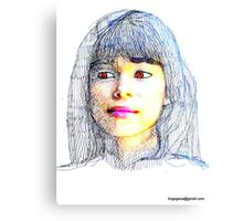 portraits of friends, students etc: Ludy Canvas Print