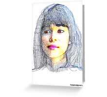 portraits of friends, students etc: Ludy Greeting Card