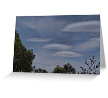 Lenticular Clouds over Yarrawonga Greeting Card