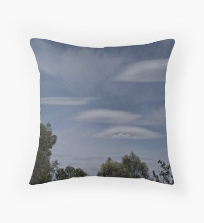 Lenticular Clouds over Yarrawonga Throw Pillow