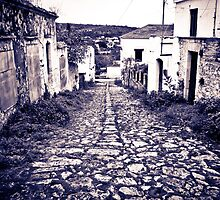 Old stone road by Stavros Charakopoulos