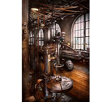Machinist - Industrial Drill Press  Photographic Print