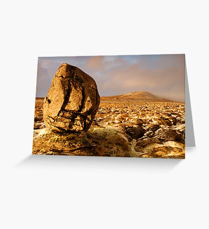 Whernside from Scales Moor, Ingleton, Ribblesdale, Yorkshire Dales Greeting Card