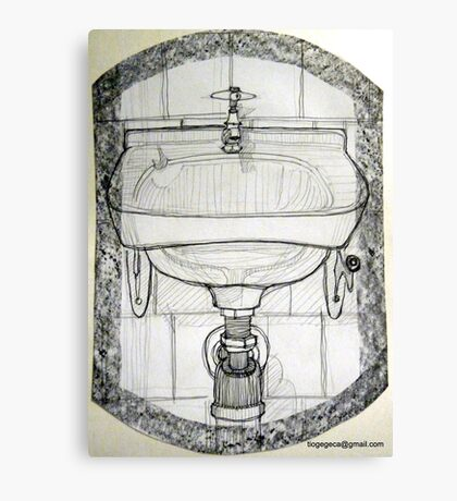pencil & paper: lavabo  Canvas Print