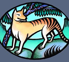 Tasmanian Tiger - prints & cards by Kim  Lynch