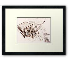pencil & paper: architecture in loco Framed Print