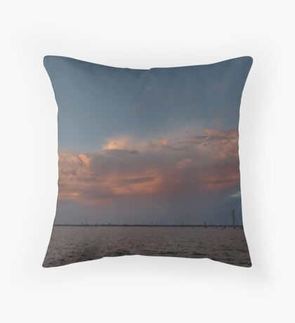 Burning Storm Throw Pillow