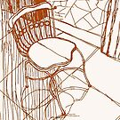 Architectural detail: chair from a Café in Tiradentes-MG  by tiogegeca
