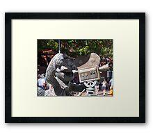 Fozzy Bear Statue Framed Print
